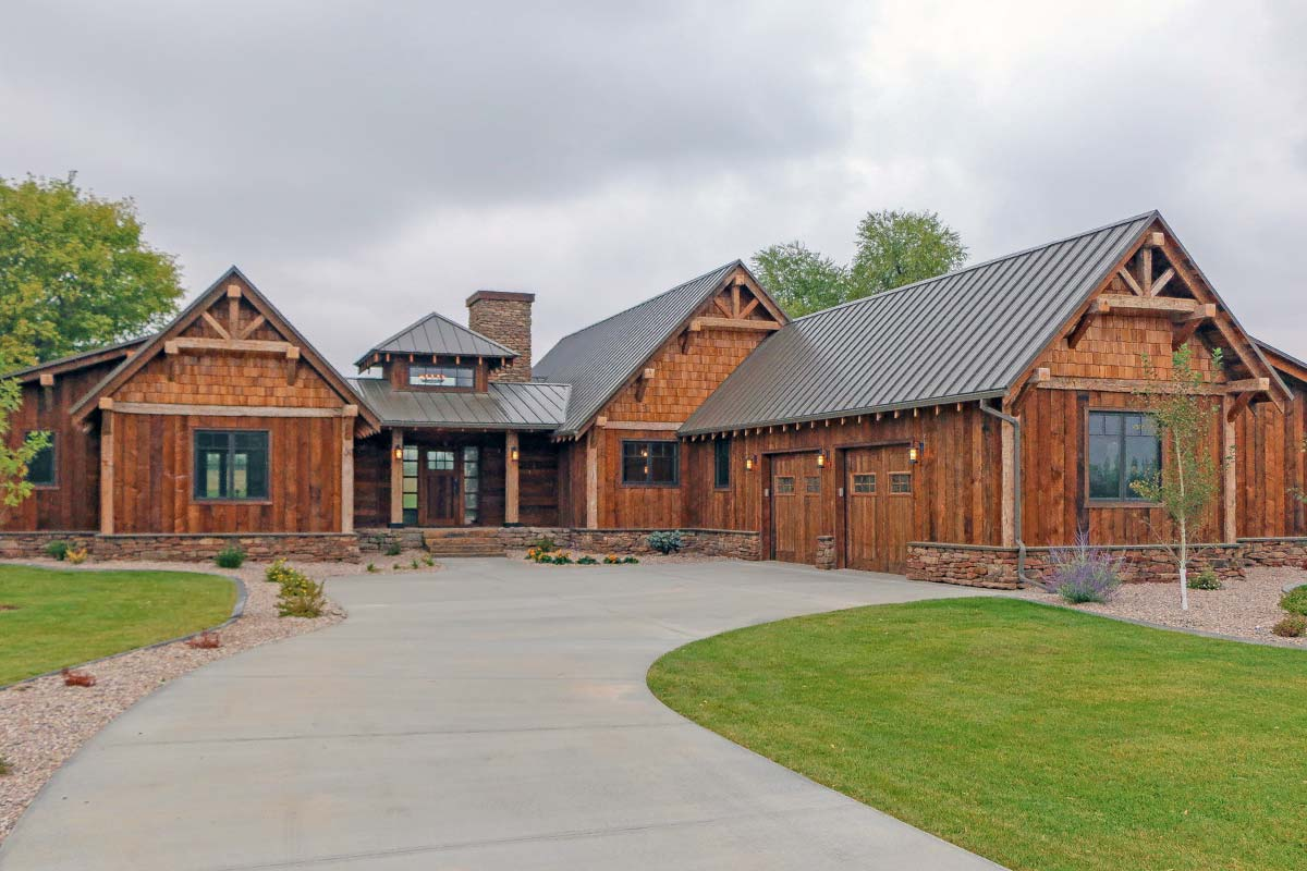 Rustic mountain ranch house plan 18846ck architectural for Rustic house designs