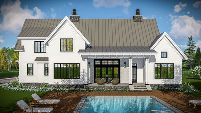 Attractive Modern Farmhouse With Vaulted Master Suite   14661RK Thumb   03