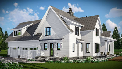 Amazing Modern Farmhouse With Vaulted Master Suite   14661RK Thumb   05