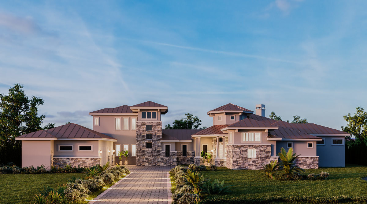 Impressive Exclusive Tuscan House Plan with Game Room - 430033LY ...