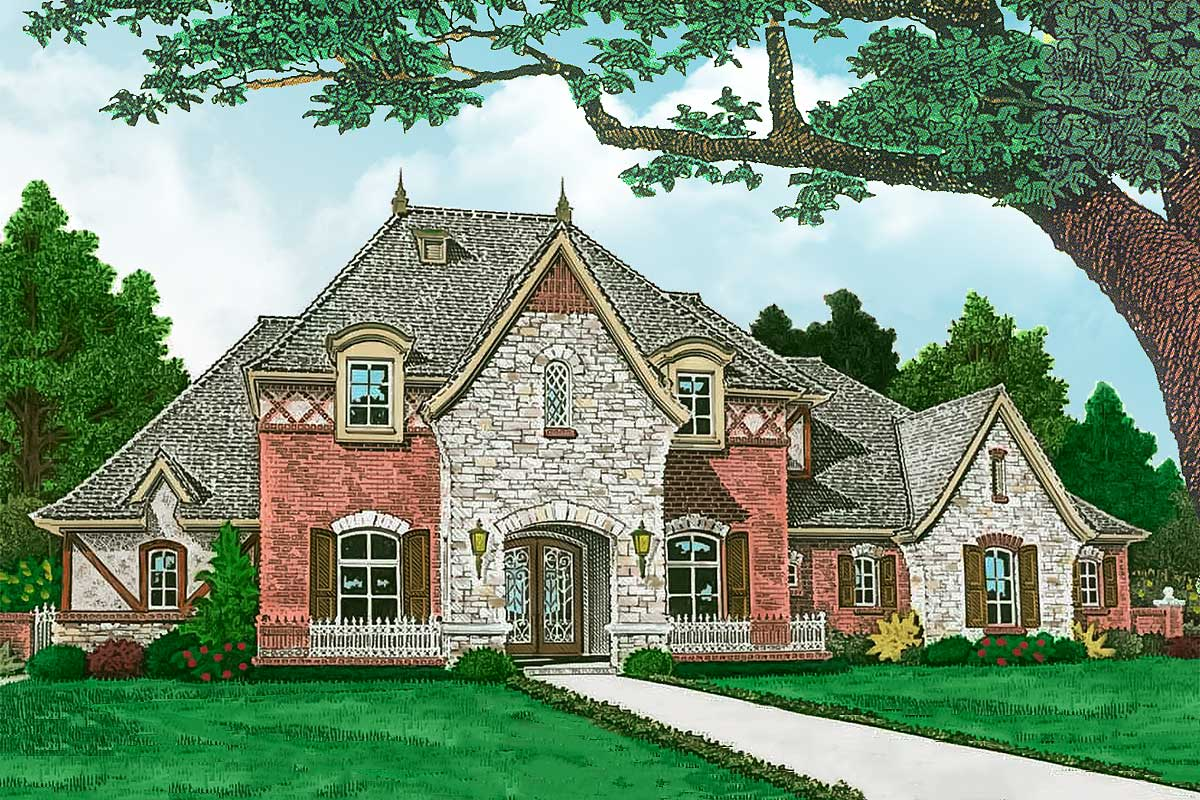 High end french country house plan 48568fm for High end home plans