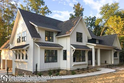 Modern Farmhouse Plan 14662RK Comes to life in North Carolina - photo 002