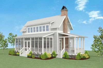 Great Charming Country Farmhouse Plan   130004LLS Thumb   01 Photo