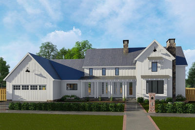 classic farmhouse with two story great room 62728dj thumb 01 - Farmhouse Great Room Plans