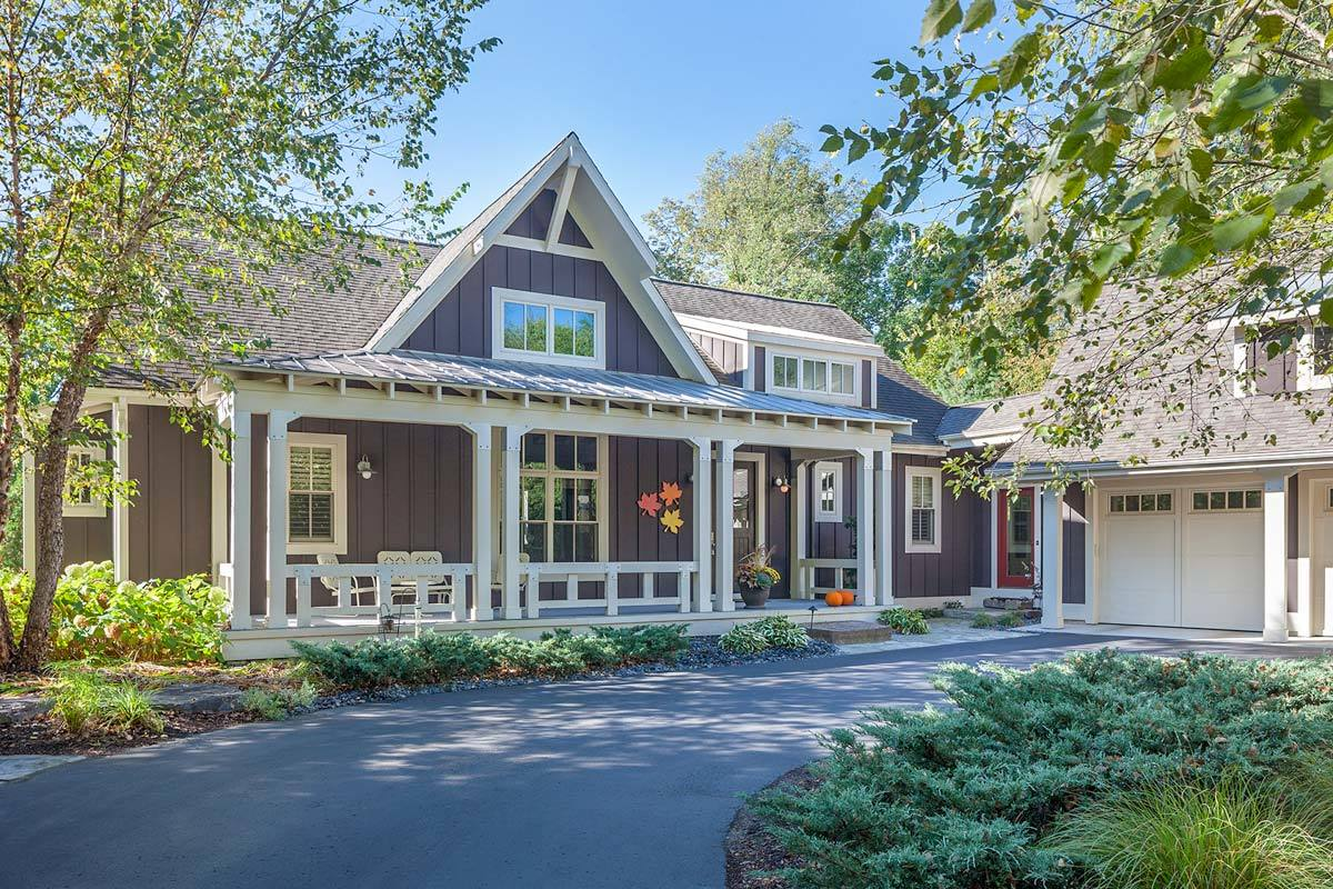 Luxury Craftsman House Plan with Finished Lower Level - 970058VC ...