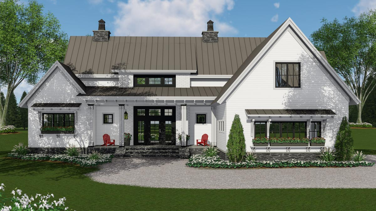 modern farmhouse plan with 3