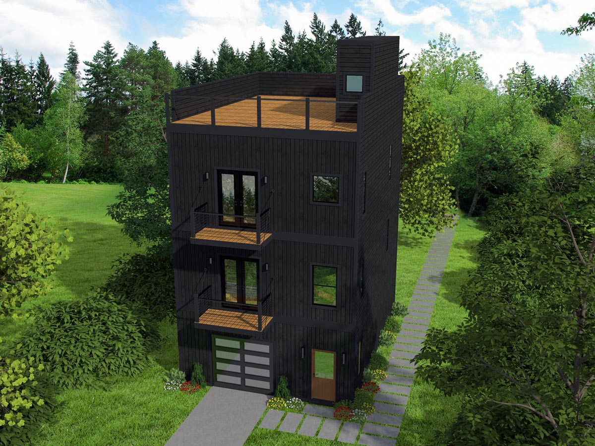 Modern Home Design: Contemporary House Plan With Scenic Mezzanine