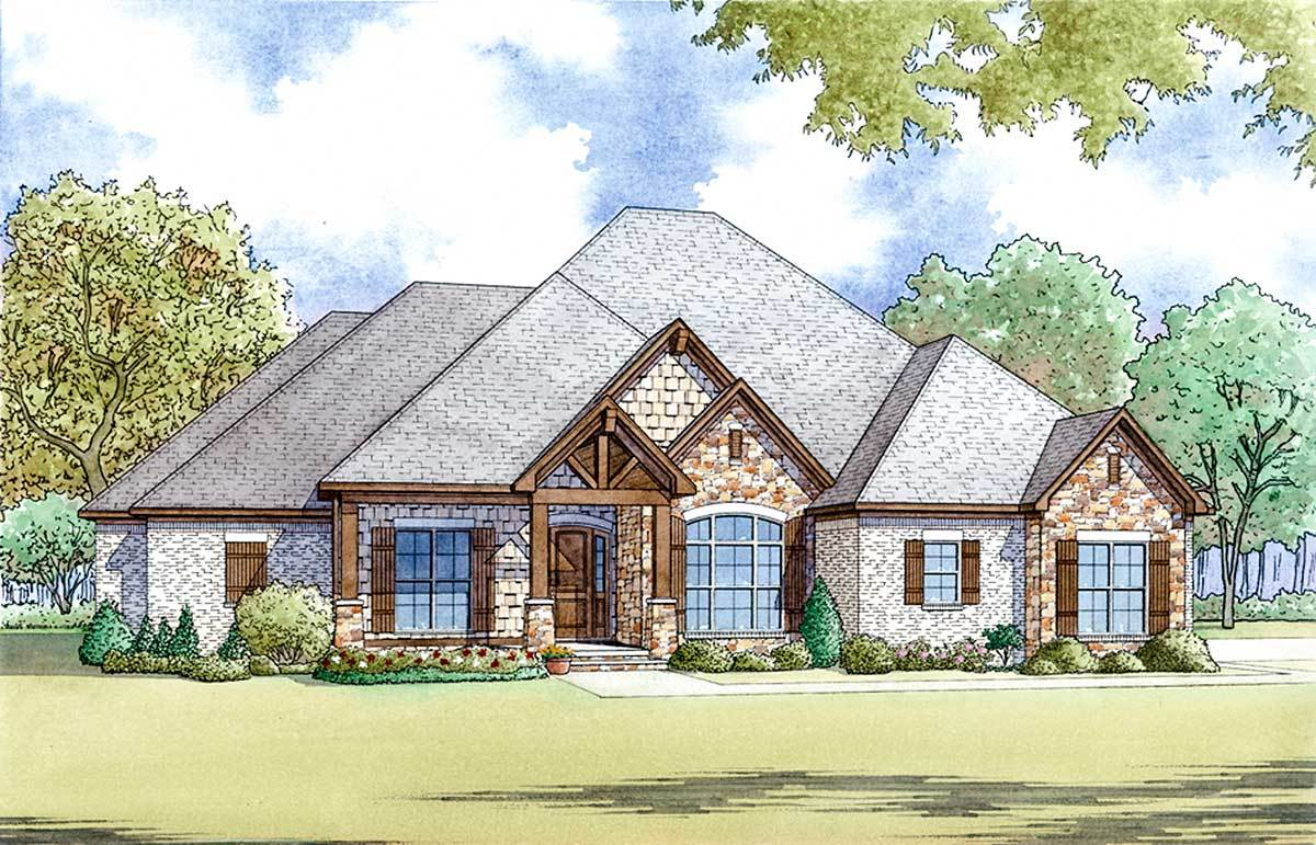 4-Bed House Plan With Vaulted Great Room And Bonus Over
