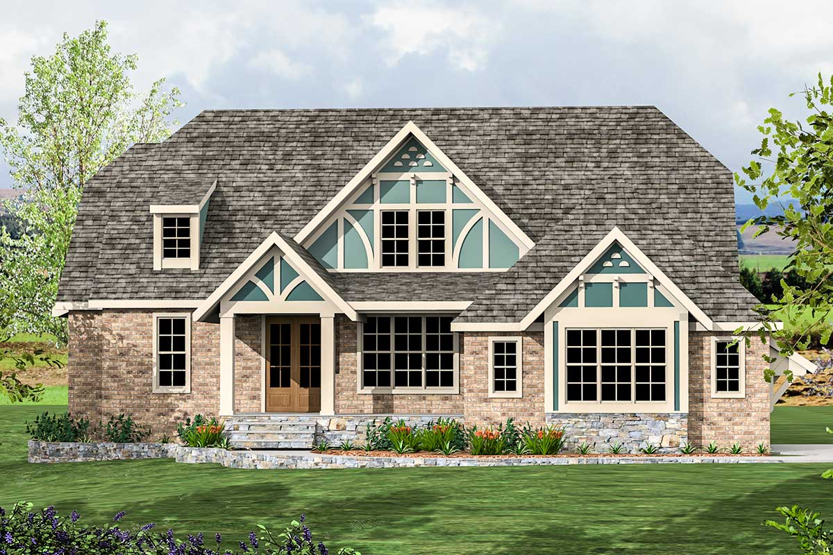 Exclusive modern tudor house plan 500039vv for Modern tudor house