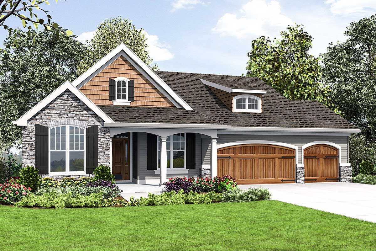 Cute Craftsman House Plan With Walkout Basement