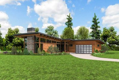 Sleek Contemporary House Plan - 69663AM   Architectural ...