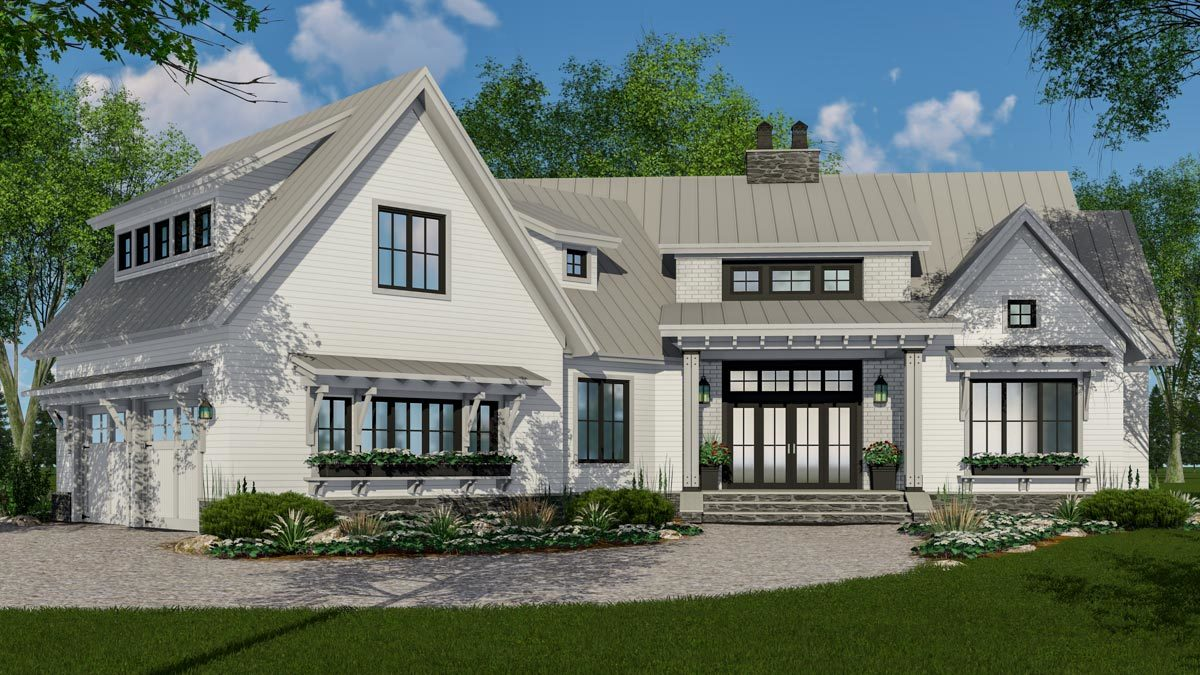 Expandable farmhouse house plan with options 14665rk for Architectural designs farmhouse