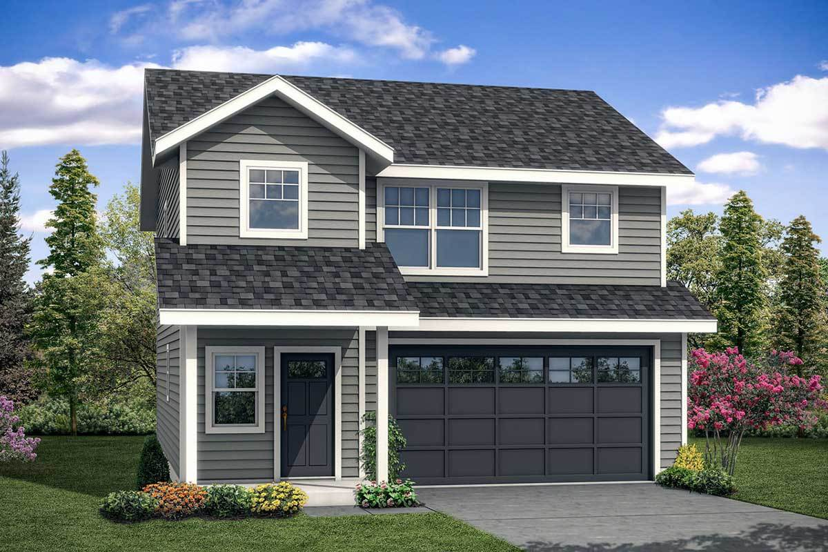 Simple House Plan with Upstairs Vaulted Master Suite