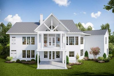 Attractive 3 Bed Modern Craftsman House Plan With Angled Garage   25640GE Thumb   02 Images