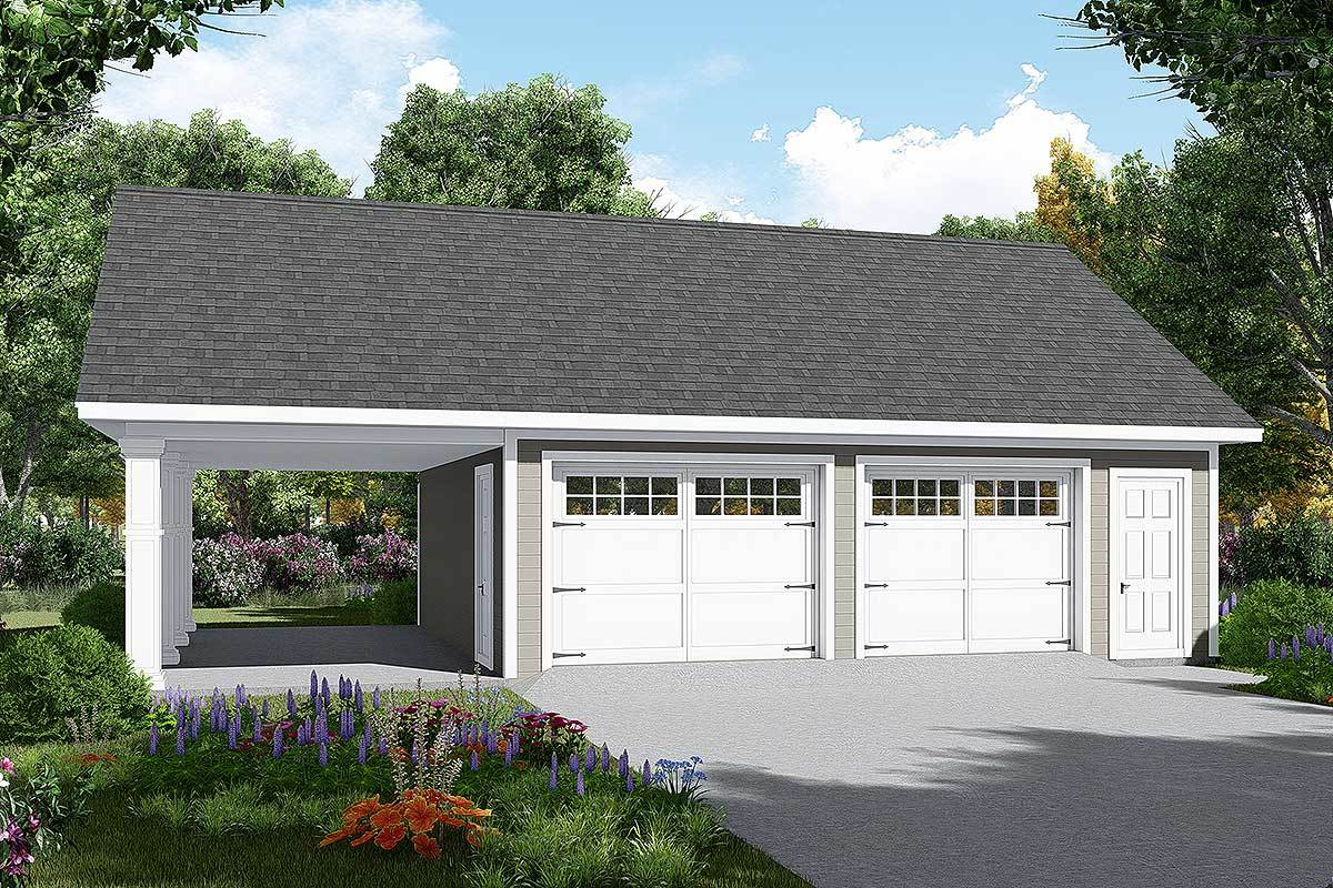 Detached Garage Plan With Carport