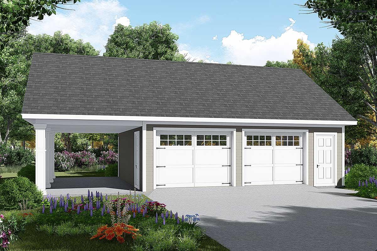 Detached Garage Plan With Carport