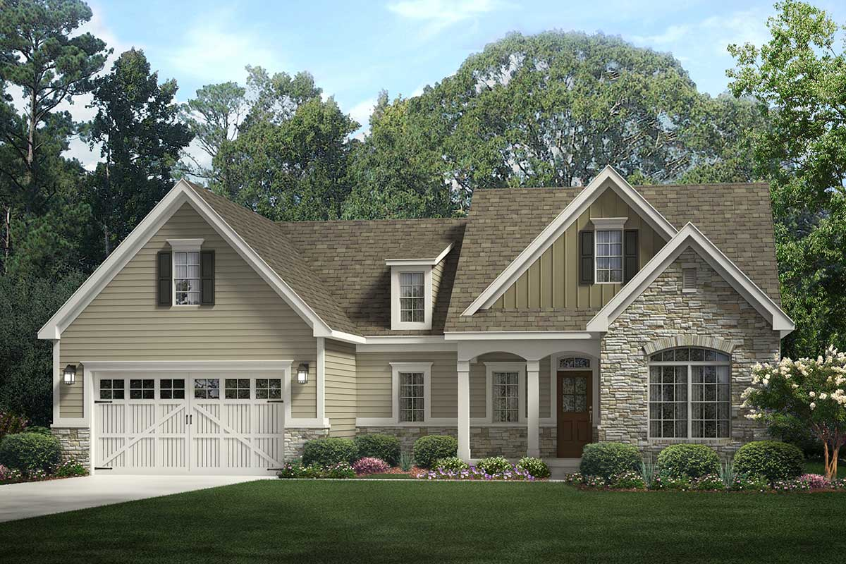 Inviting 3-Bedroom Open-Concept Craftsman Ranch Home Plan ...