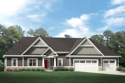 One Story Craftsman House Plan With 3 Car Garage 790040glv