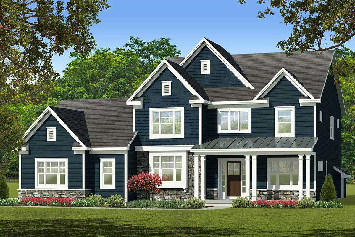 Spacious Two-Story Traditional House Plan