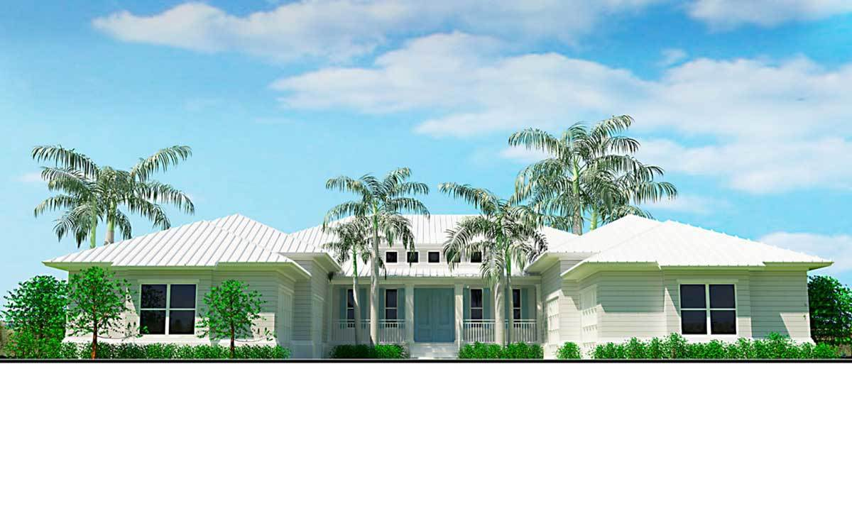 Southern Coastal House Plan With Two Master Baths 33218zr