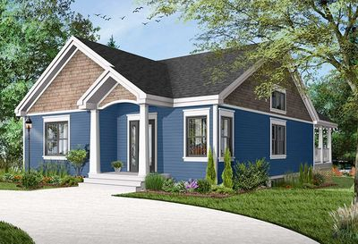 Narrow Lot Ranch House Plan 22526dr Architectural Designs
