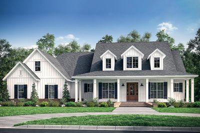Fresh 4 bedroom farmhouse plan with bonus room above 3 car for House plans with 3 car garage and bonus room