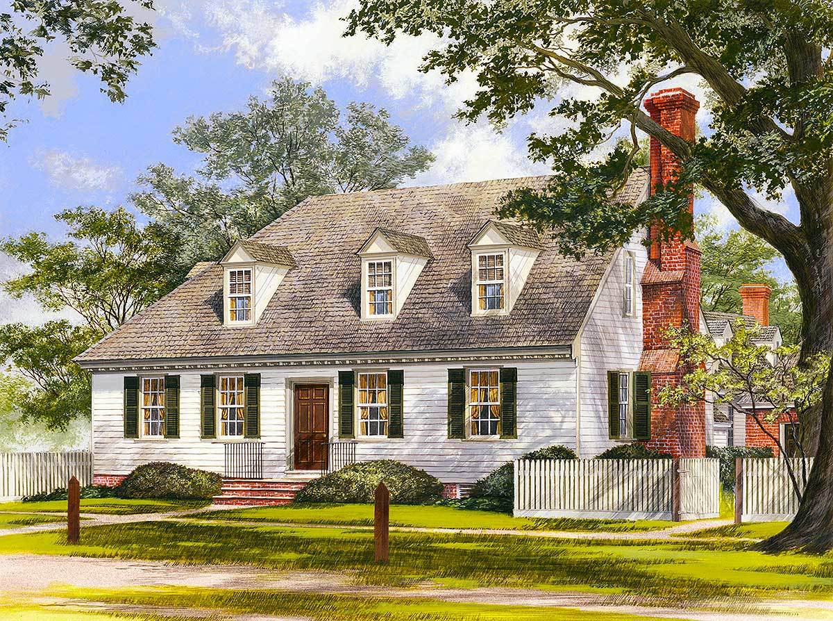 Adorable cape cod home plan 32508wp architectural for Cape cod cottage plans