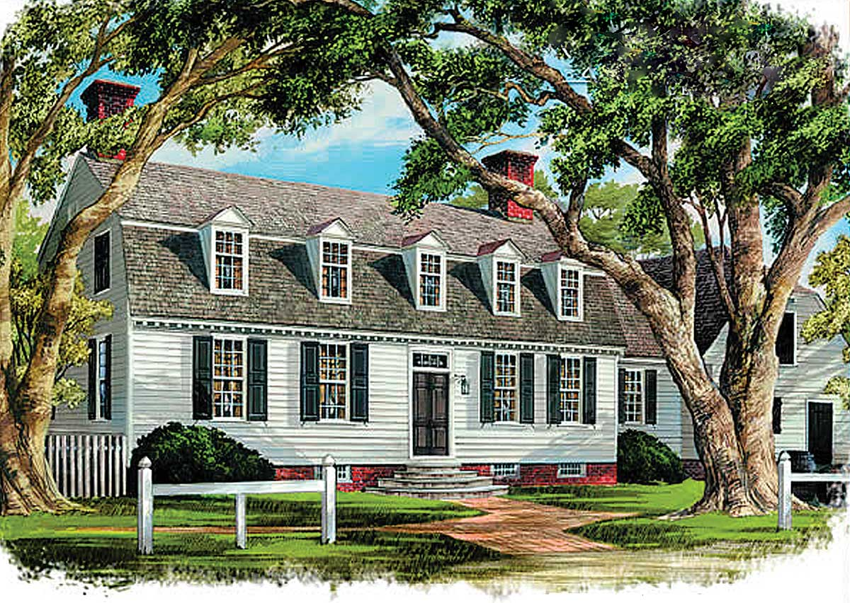 Historic early virginia home plan 32521wp for Virginia house plans