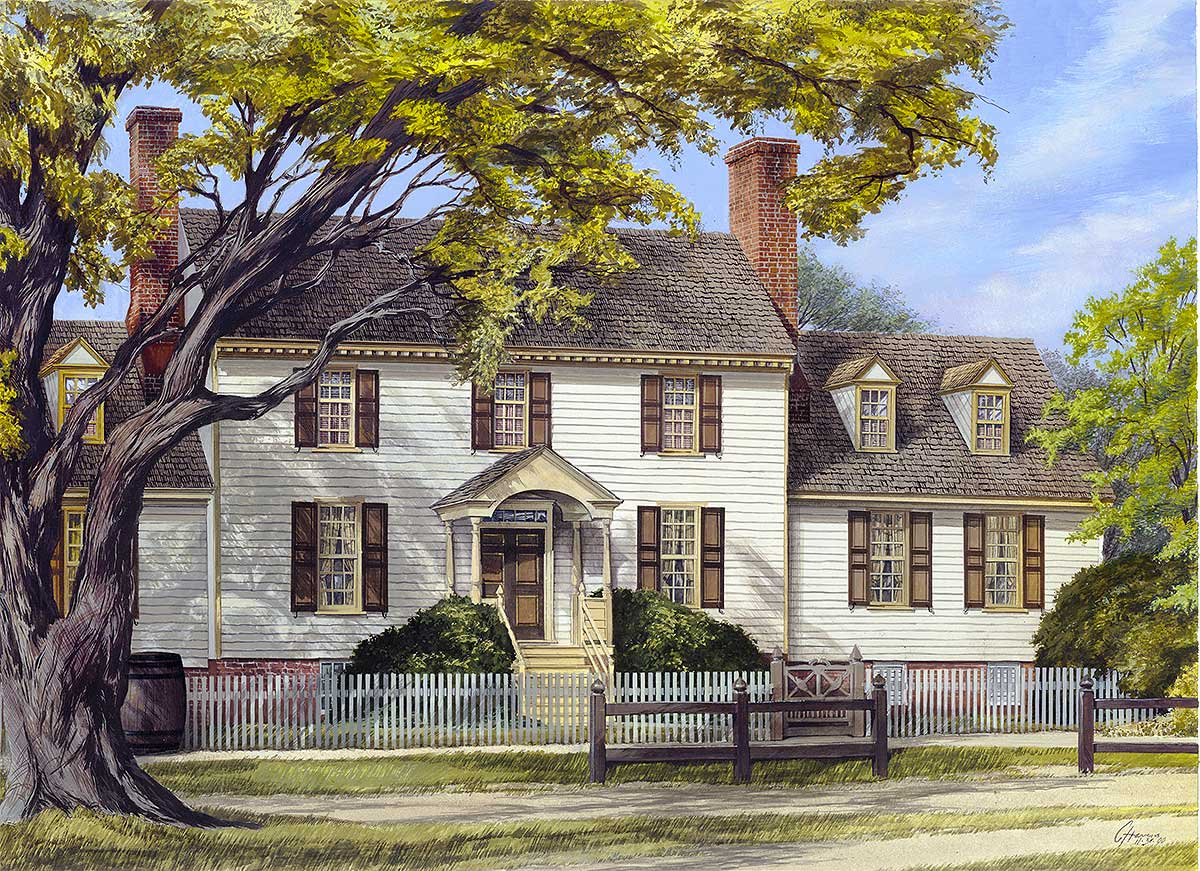 Spacious Colonial Home Plan 32522wp Architectural