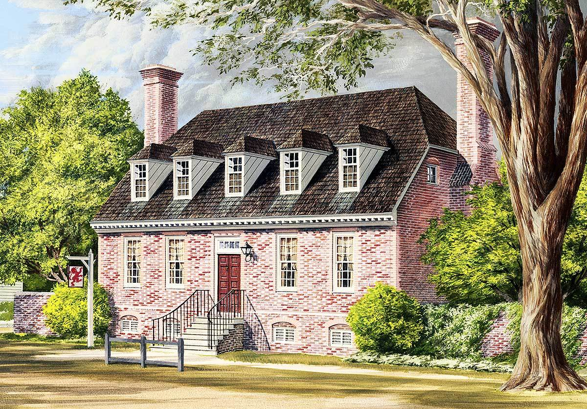 Traditional colonial home plan 32524wp architectural for Classic colonial home plans