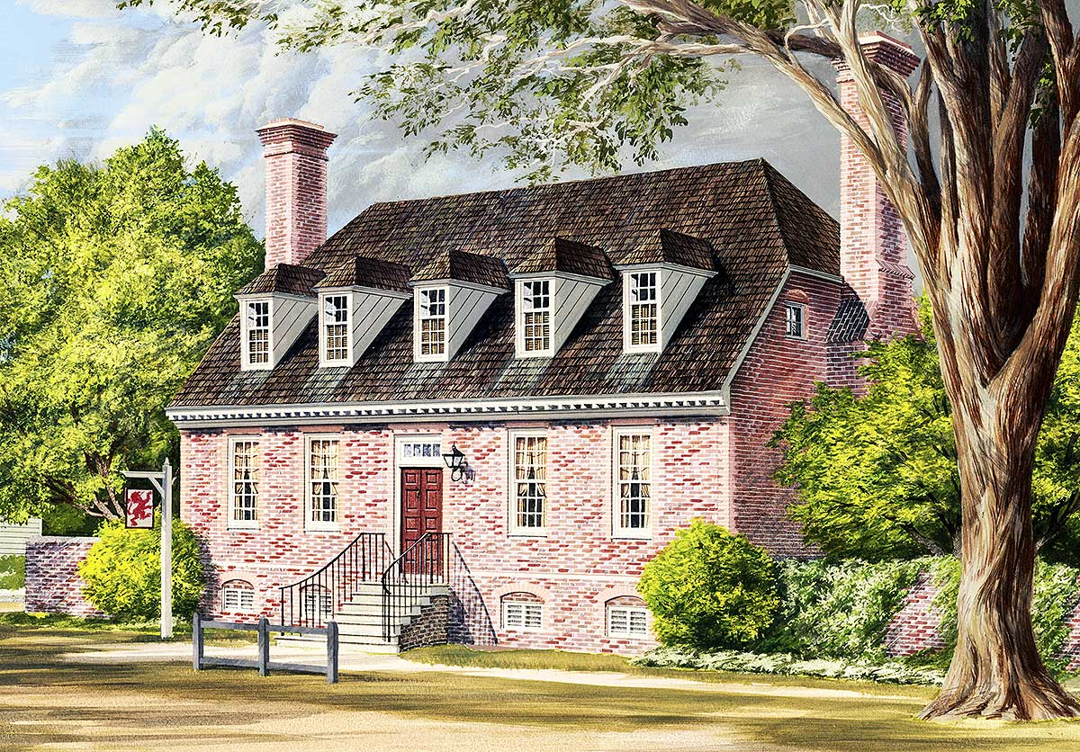 Traditional Colonial Home Plan 32524wp 1st Floor