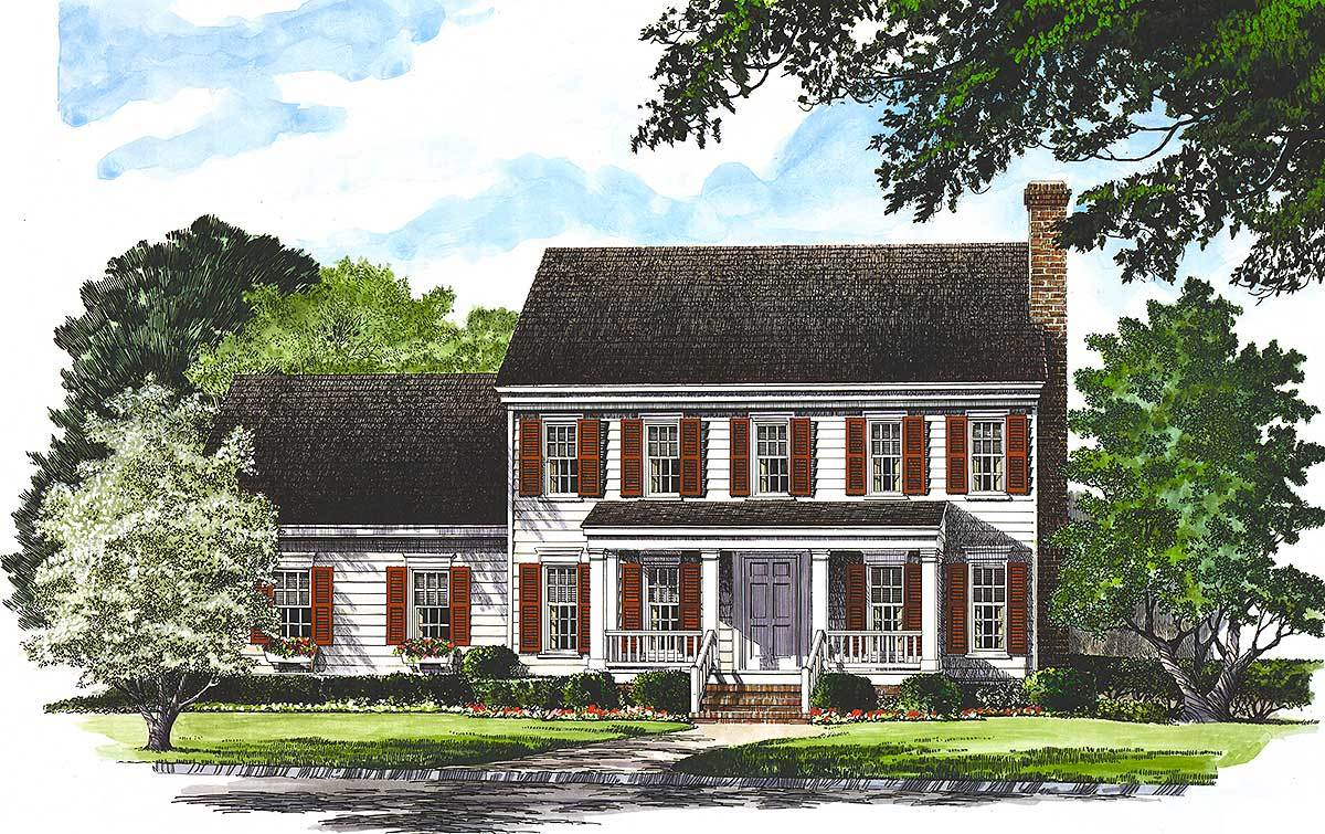 colonial house plan traditional colonial home 32529wp architectural designs house plans 1933