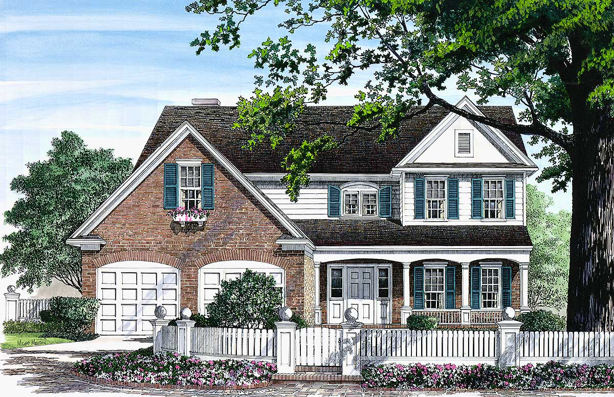 Charming traditional home plan 32531wp architectural for Traditional farmhouse plans