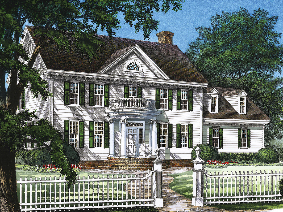Stately Colonial Home Plan 32559wp 2nd Floor Master