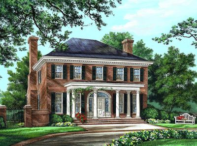 Majestic Traditional Home Plan - 32590WP thumb - 01