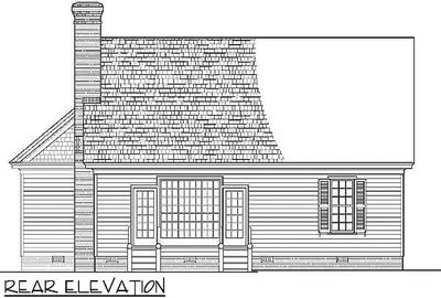 L-Shaped Cape Cod Home Plan - 32598WP thumb - 04
