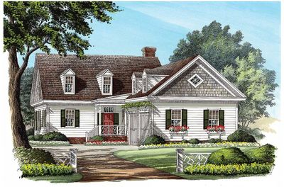L-Shaped Cape Cod Home Plan - 32598WP thumb - 03