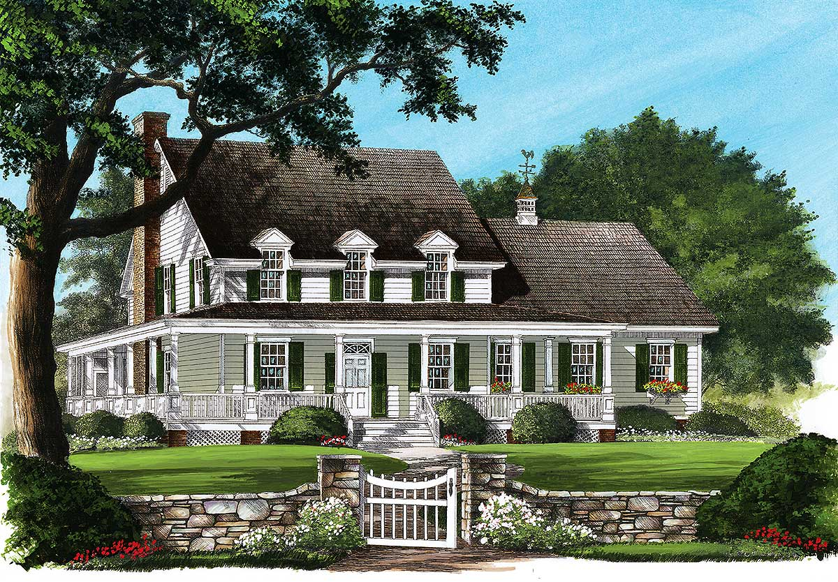 country home with wrap around porch 32600wp 1st floor