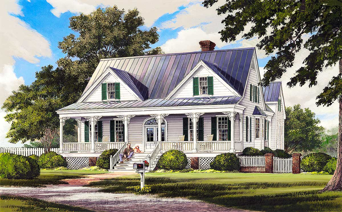 Country home with garage apartment 32601wp 1st floor Southern living garage apartment plans