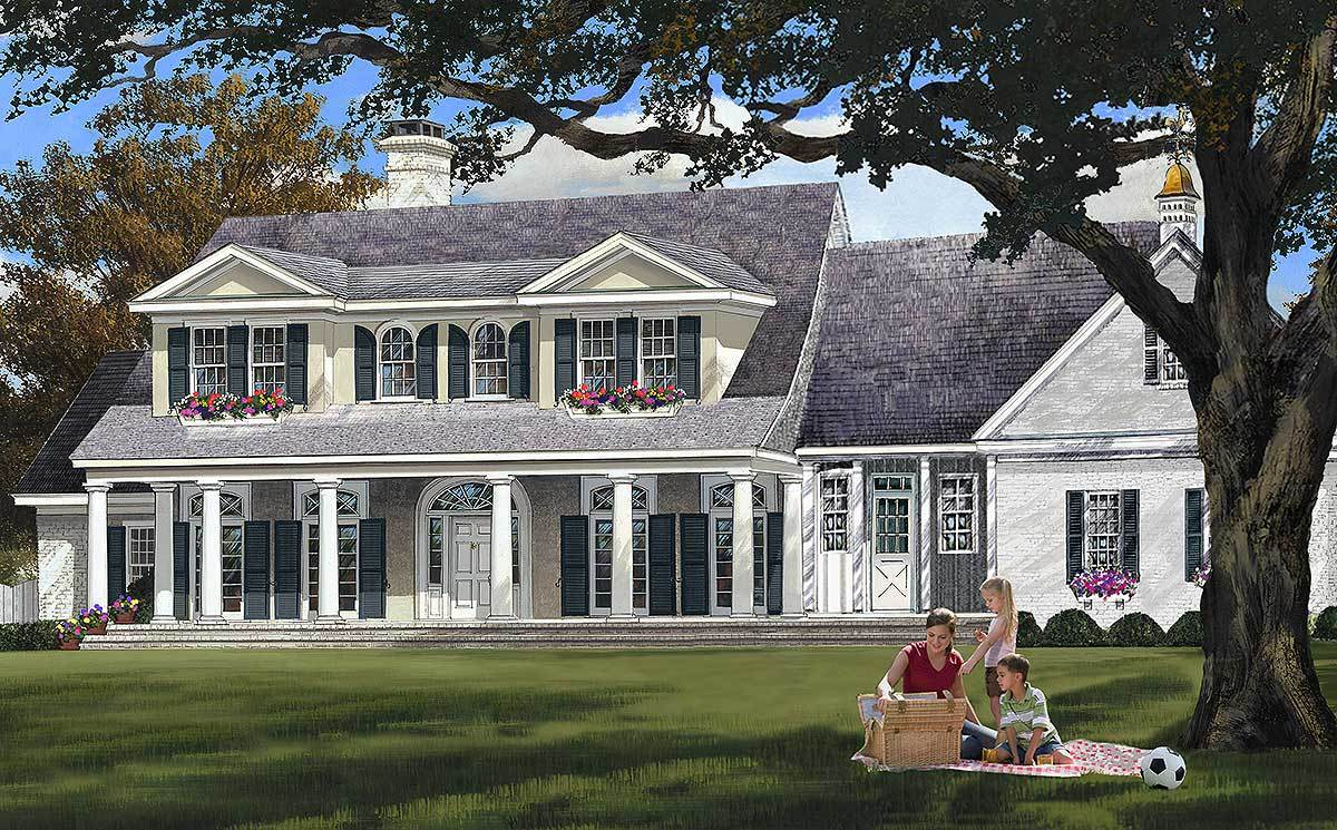 Elegant country home plan 32611wp architectural for Elegant country homes