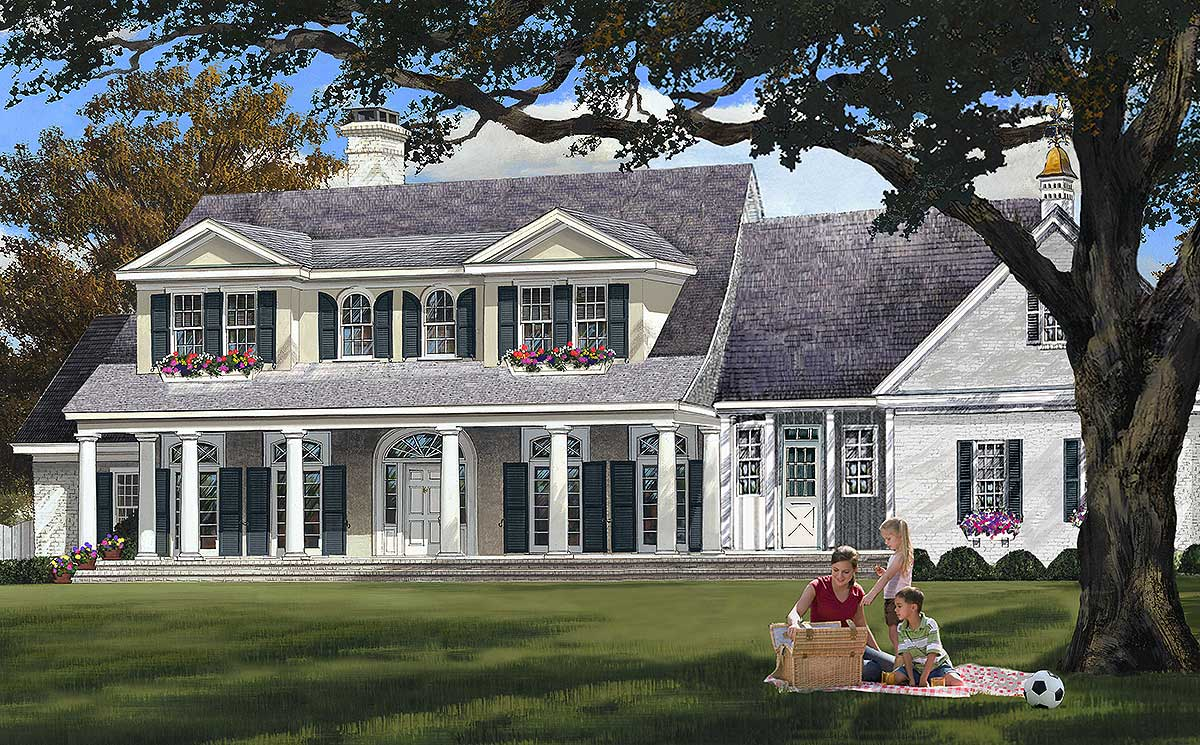 Elegant Country Home Plan 32611wp Architectural