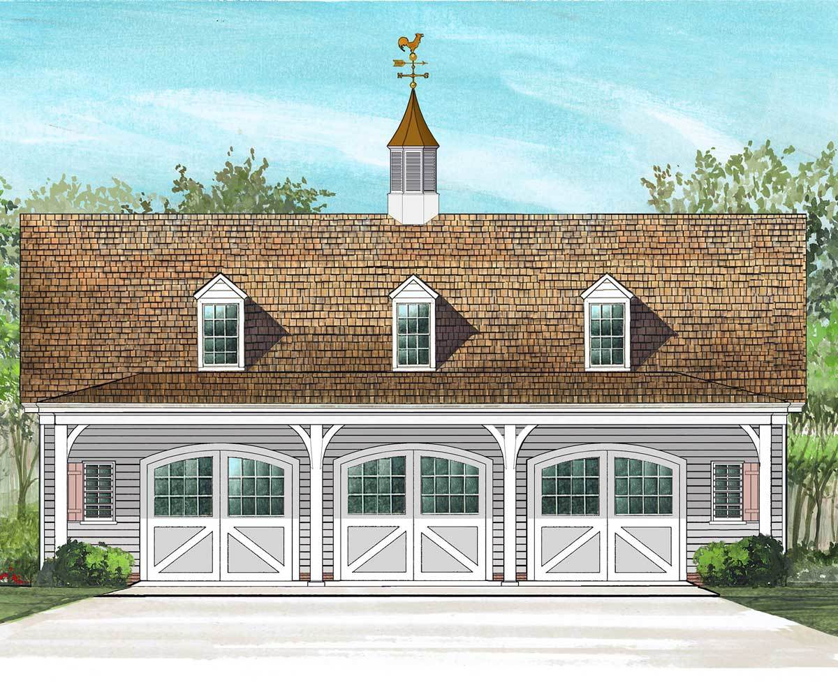 3 car carriage house plan 32626wp architectural for Large carriage house plans