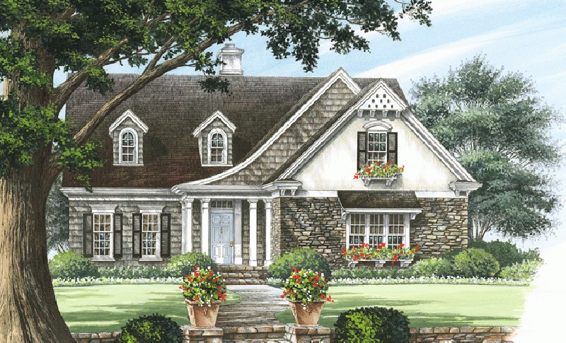 Charming traditional cottage house plan 32642wp for Charming cottage house plans