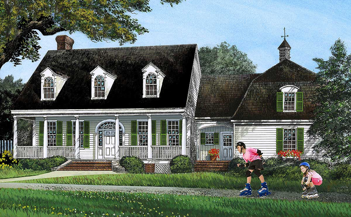 Gambrel Roof House Plan With 4 Or 5 Bedsedrooms