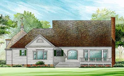 Gambrel Roof House Plan With 4 Or 5 Bedsedrooms   32649WP Thumb   02