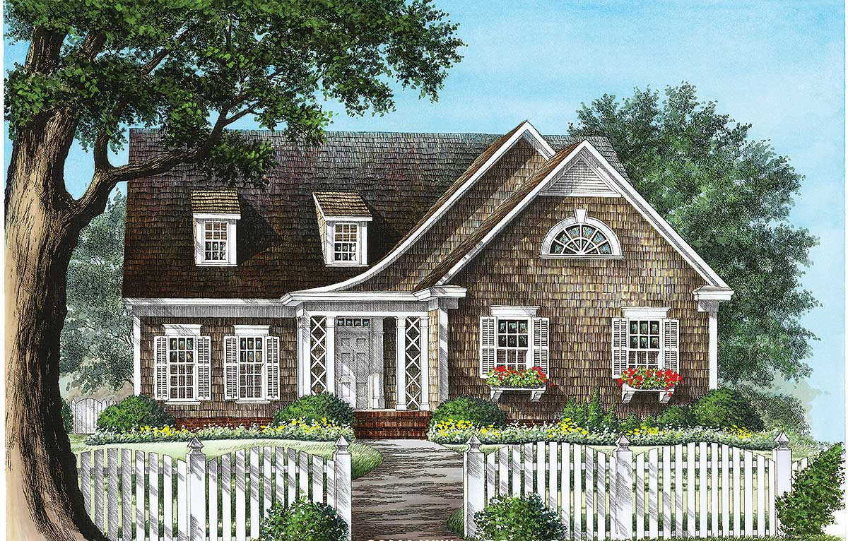 Inviting shingle style house plan 32654wp for Shingle style home plans