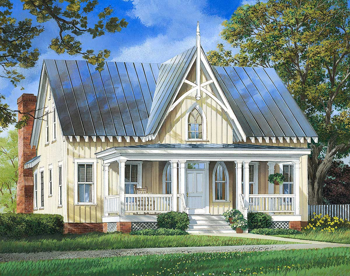 Charming cottage house plan 32657wp architectural for Architect home plans
