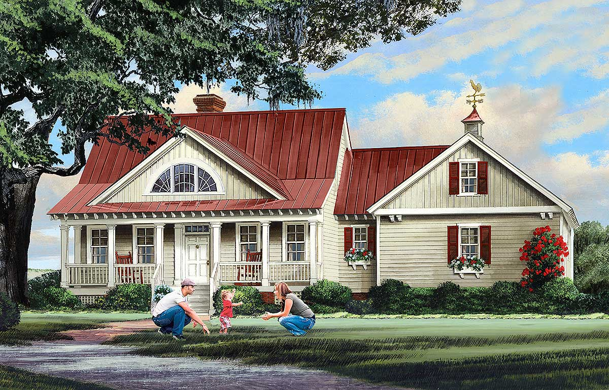 Beautifully Detailed Cottage House Plan 32659wp 1st