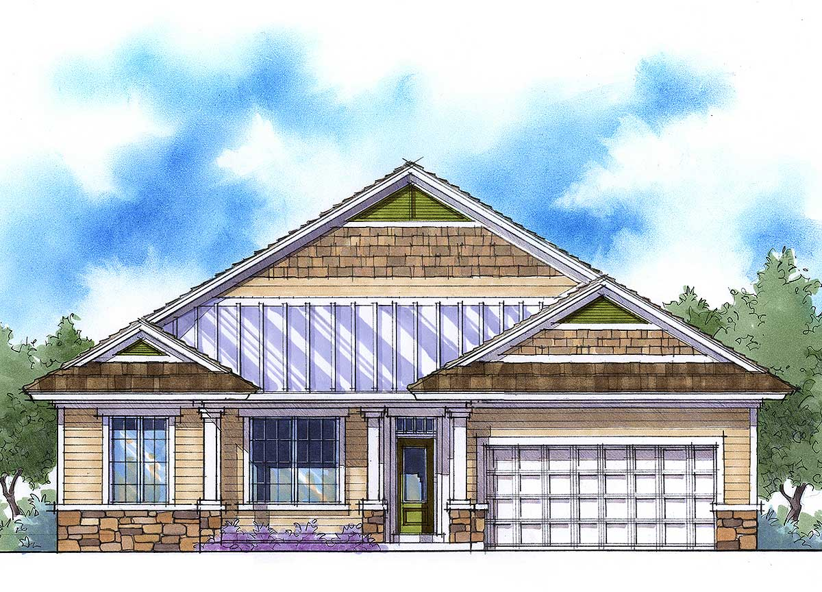 Net Zero Ready House Plan 33003zr 1st Floor Master