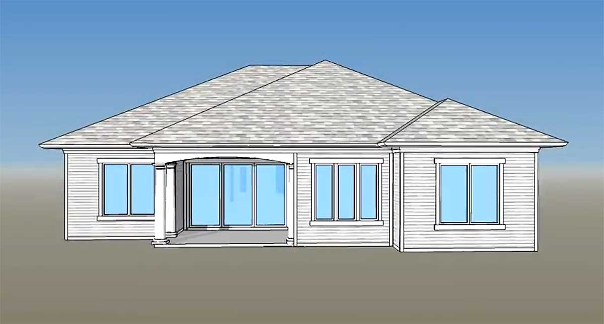 3 Bed Super Energy Efficient House Plan 33007zr 1st